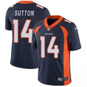 Wholesale Cheap Nike Broncos #14 Courtland Sutton Navy Blue Alternate Men's Stitched NFL Vapor Untouchable Limited Jersey
