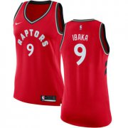 Wholesale Cheap Raptors #9 Serge Ibaka Red Women's Basketball Swingman Icon Edition Jersey