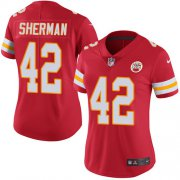 Wholesale Cheap Nike Chiefs #42 Anthony Sherman Red Team Color Women's Stitched NFL Vapor Untouchable Limited Jersey