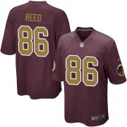 Wholesale Cheap Nike Redskins #86 Jordan Reed Burgundy Red Alternate Youth Stitched NFL Elite Jersey