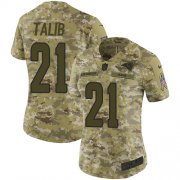 Wholesale Cheap Nike Rams #21 Aqib Talib Camo Women's Stitched NFL Limited 2018 Salute to Service Jersey