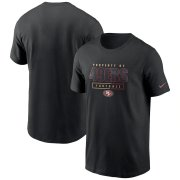 Wholesale Cheap San Francisco 49ers Nike Team Property Of Essential T-Shirt Black
