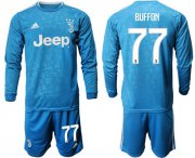 Wholesale Cheap Juventus #77 Buffon Third Long Sleeves Soccer Club Jersey