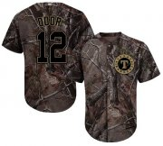 Wholesale Cheap Rangers #12 Rougned Odor Camo Realtree Collection Cool Base Stitched Youth MLB Jersey