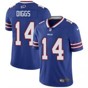 Wholesale Cheap Nike Bills #14 Stefon Diggs Royal Blue Team Color Men's Stitched NFL Vapor Untouchable Limited Jersey