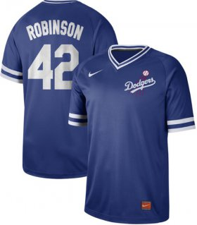 Wholesale Cheap Nike Dodgers #42 Jackie Robinson Royal Authentic Cooperstown Collection Stitched MLB Jersey