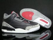 Wholesale Cheap Air Jordan 3 Retro Black Cement 2011 release Black/White-Grey-Gym Red