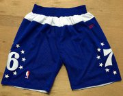Wholesale Cheap Men's Philadelphia 76ers Blue Stars Short