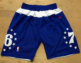 Wholesale Cheap Men\'s Philadelphia 76ers Blue Stars Short