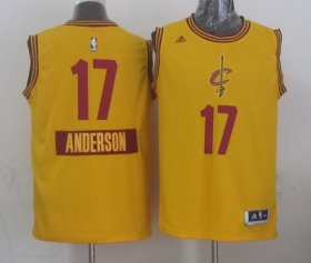 Wholesale Cheap Cleveland Cavaliers #17 Anderson Varejao Revolution 30 Swingman 2014 Christmas Day Yellow Jersey