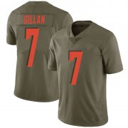Wholesale Cheap Men's Cleveland Browns #7 Jamie Gillan Green Limited 2017 Salute to Service Nike Jersey