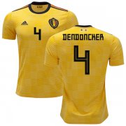 Wholesale Cheap Belgium #4 Dendoncker Away Soccer Country Jersey