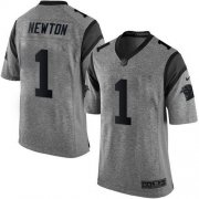 Wholesale Cheap Nike Panthers #1 Cam Newton Gray Men's Stitched NFL Limited Gridiron Gray Jersey