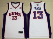 Wholesale Cheap Men's Phoenix Suns #13 Steve Nash White Stitched NBA Adidas Revolution 30 Swingman Jersey