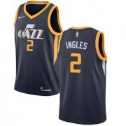Wholesale Cheap Nike Utah Jazz #2 Joe Ingles Navy NBA Swingman Icon Edition Jersey