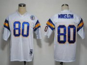 Wholesale Cheap Mitchell And Ness 1984 Chargers #80 Kellen Winslow White Stitched NFL Jersey