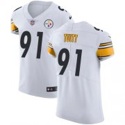 Wholesale Cheap Nike Steelers #91 Stephon Tuitt White Men's Stitched NFL Vapor Untouchable Elite Jersey