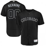 Wholesale Cheap Colorado Rockies Majestic 2019 Players' Weekend Flex Base Authentic Roster Custom Jersey Black