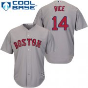 Wholesale Cheap Red Sox #14 Jim Rice Grey Cool Base Stitched Youth MLB Jersey