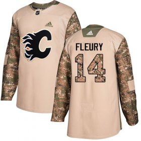 Wholesale Cheap Adidas Flames #14 Theoren Fleury Camo Authentic 2017 Veterans Day Stitched Youth NHL Jersey