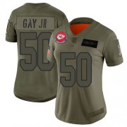 Wholesale Cheap Nike Chiefs #50 Willie Gay Jr. Camo Women's Stitched NFL Limited 2019 Salute To Service Jersey