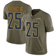 Wholesale Cheap Nike Chargers #25 Melvin Gordon III Olive Men's Stitched NFL Limited 2017 Salute to Service Jersey