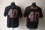 Wholesale Cheap Sideline Black United Browns #40 Peyton Hillis Black Stitched NFL Jersey