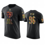 Wholesale Cheap Bears #96 Akiem Hicks Black Men's Black History Month T-Shirt