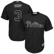 "Wholesale Cheap Phillies #3 Bryce Harper Black ""Harp"" Players Weekend Cool Base Stitched MLB Jersey"