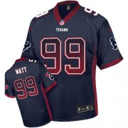 Wholesale Cheap Nike Texans #99 J.J. Watt Navy Blue Team Color Youth Stitched NFL Elite Drift Fashion Jersey