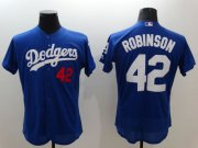 Wholesale Cheap Dodgers #42 Jackie Robinson Blue Flexbase Authentic Collection Stitched MLB Jersey