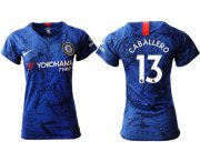 Wholesale Cheap Women's Chelsea #13 Caballero Home Soccer Club Jersey
