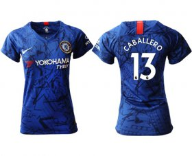 Wholesale Cheap Women\'s Chelsea #13 Caballero Home Soccer Club Jersey