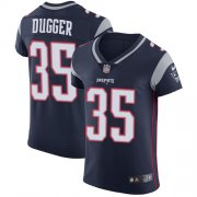 Wholesale Cheap Nike Patriots #35 Kyle Dugger Navy Blue Team Color Men's Stitched NFL Vapor Untouchable Elite Jersey