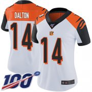 Wholesale Cheap Nike Bengals #14 Andy Dalton White Women's Stitched NFL 100th Season Vapor Limited Jersey