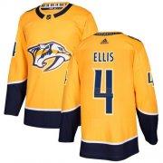 Wholesale Cheap Adidas Predators #4 Ryan Ellis Yellow Home Authentic Stitched NHL Jersey