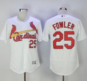Wholesale Cheap Cardinals #25 Dexter Fowler White Flexbase Authentic Collection Stitched MLB Jersey