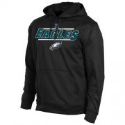 Wholesale Cheap Philadelphia Eagles Majestic Synthetic Hoodie Sweatshirt Black