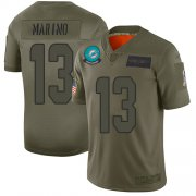 Wholesale Cheap Nike Dolphins #13 Dan Marino Camo Men's Stitched NFL Limited 2019 Salute To Service Jersey
