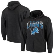 Wholesale Cheap Detroit Lions G-III Sports by Carl Banks Perfect Season Full-Zip Hoodie Charcoal