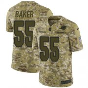 Wholesale Cheap Nike Dolphins #55 Jerome Baker Camo Men's Stitched NFL Limited 2018 Salute To Service Jersey