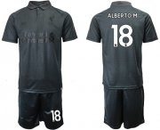 Wholesale Cheap Liverpool #18 Alberto.M Black Soccer Club Jersey