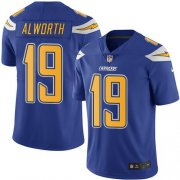 Wholesale Cheap Nike Chargers #19 Lance Alworth Electric Blue Men's Stitched NFL Limited Rush Jersey