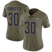 Wholesale Cheap Nike Rams #30 Todd Gurley II Olive Women's Stitched NFL Limited 2017 Salute to Service Jersey