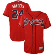 Wholesale Cheap Braves #24 Deion Sanders Red Flexbase Authentic Collection Stitched MLB Jersey