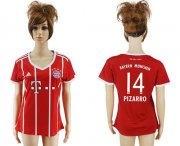 Wholesale Cheap Women's Bayern Munchen #14 Pizarro Home Soccer Club Jersey