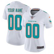 Wholesale Cheap Nike Miami Dolphins Customized White Stitched Vapor Untouchable Limited Women's NFL Jersey
