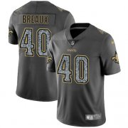 Wholesale Cheap Nike Saints #40 Delvin Breaux Gray Static Men's Stitched NFL Vapor Untouchable Limited Jersey