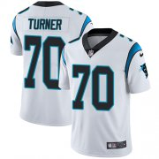 Wholesale Cheap Nike Panthers #70 Trai Turner White Men's Stitched NFL Vapor Untouchable Limited Jersey