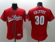 Wholesale Cheap Reds #30 Ken Griffey Red Flexbase Authentic Collection Los Rojos Stitched MLB Jersey